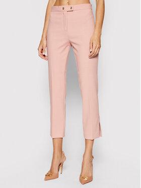 Pinko Pinko Pantalon en tissu Torrone PE 21 BLK01 1G15VF 8419 Rose Regular Fit