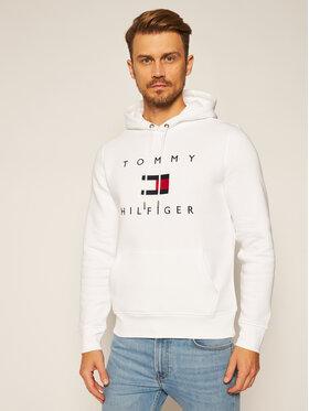 TOMMY HILFIGER TOMMY HILFIGER Felpa Flag Hoody MW0MW14203 Bianco Regular Fit