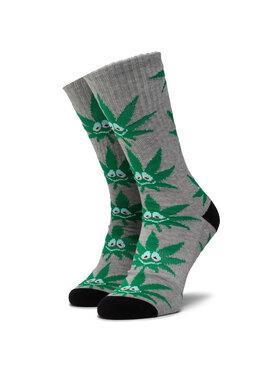 HUF HUF Ponožky Vysoké Unisex Green Buddy 3Pl Sock SK00446 r.OS Sivá