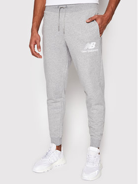New Balance New Balance Pantaloni da tuta Essentials Stacked Logo MP03558 Grigio Athletic Fit