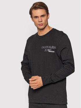 Calvin Klein Jeans Calvin Klein Jeans Тениска с дълъг ръкав J30J319304 Черен Regular Fit