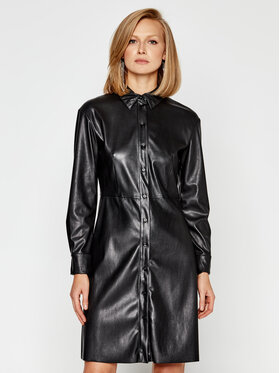 MAX&Co. MAX&Co. Sukienka skórzana Danubio 66249520 Czarny Regular Fit