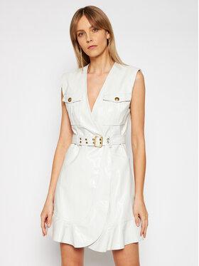 Pinko Pinko Sukienka skórzana Attivo PE 21 BLK01 1G15W2 Y6W7 Biały Regular Fit