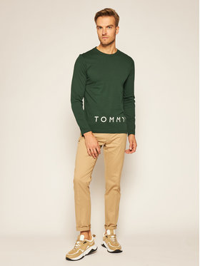 TOMMY HILFIGER TOMMY HILFIGER Marškinėliai ilgomis rankovėmis Corp Logo MW0MW15336 Žalia Regular Fit