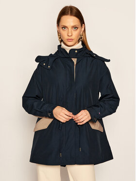 TOMMY HILFIGER TOMMY HILFIGER Geacă parka Olivia Color-Block WW0WW28603 Bleumarin Regular Fit