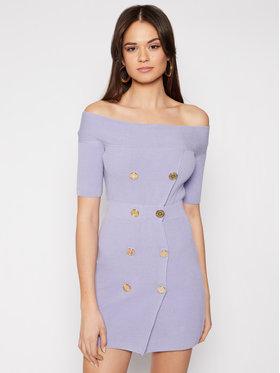 Elisabetta Franchi Elisabetta Franchi Плетена рокля AM-07Q-11E2-V499 Виолетов Slim Fit