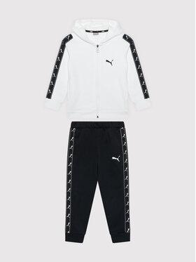 Puma Puma Φόρμα Full Zip Sweat Suit 585732 Λευκό Regular Fit