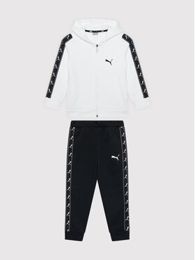 Puma Puma Tuta Full Zip Sweat Suit 585732 Bianco Regular Fit