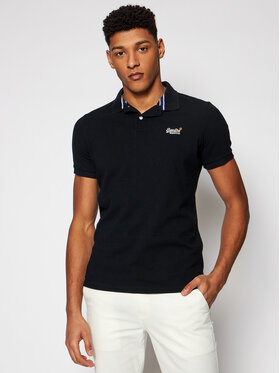 Superdry Superdry Polo Classic Pique M1110031A Czarny Regular Fit