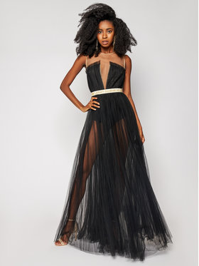Elisabetta Franchi Elisabetta Franchi Официална рокля AB-001-06E2-V769 Черен Slim Fit