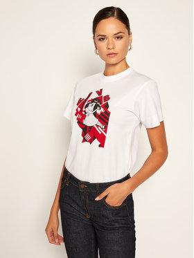 Victoria Victoria Beckham Victoria Victoria Beckham T-Shirt Single 2320JTS001718A Biały Regular Fit