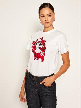 Victoria Victoria Beckham Victoria Victoria Beckham T-shirt Single 2320JTS001718A Bijela Regular Fit