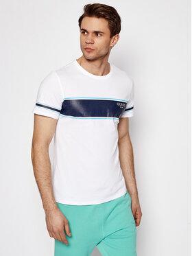 Guess Guess T-shirt Placed Print M1RI56 K8HM0 Bianco Slim Fit