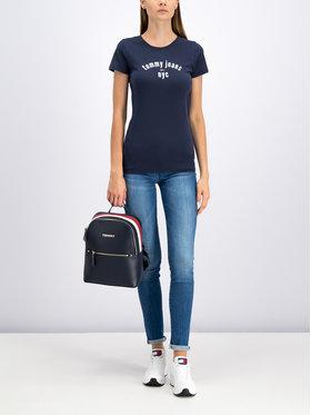 Tommy Jeans Tommy Jeans Tričko Essential DW0DW07161 Tmavomodrá Slim Fit