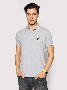 KARL LAGERFELD KARL LAGERFELD Tricou polo 745021 511221 Gri Regular Fit