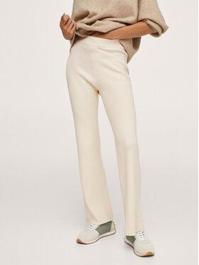 Mango Mango Spodnie materiałowe Heidi 17014045 Beżowy Regular Fit