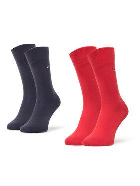Tommy Hilfiger Tommy Hilfiger Set di 2 paia di calzini lunghi da bambini 391334 Rosso