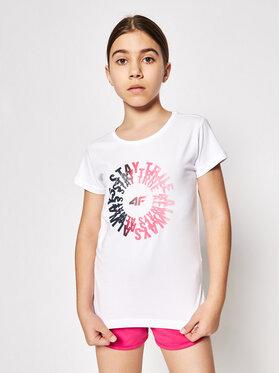 4F 4F T-shirt HJL21-JTSD014 Blanc Regular Fit