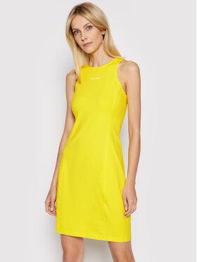 Calvin Klein Jeans Calvin Klein Jeans Každodenní šaty J20J216265 Žlutá Slim Fit