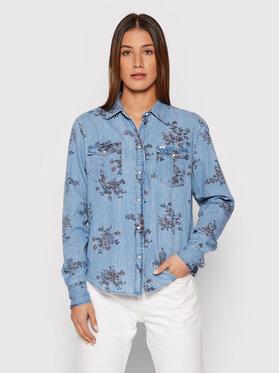 Lee Lee džinsiniai marškiniai Western L45SXHSV Mėlyna Regular Fit