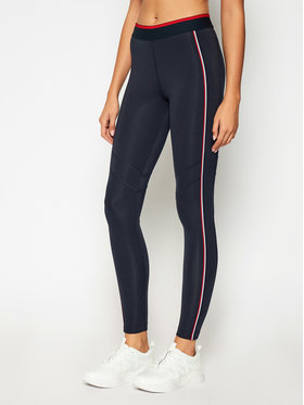Tommy Sport Tommy Sport Leggings Full Length Herringbone S10S100657 Bleu marine Slim Fit