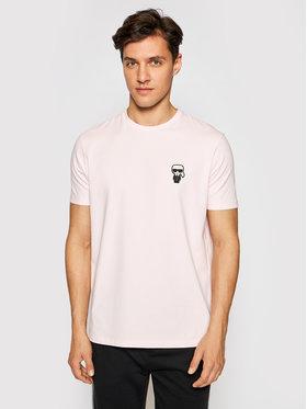KARL LAGERFELD KARL LAGERFELD T-shirt Crewneck 755025 511221 Ružičasta Regular Fit