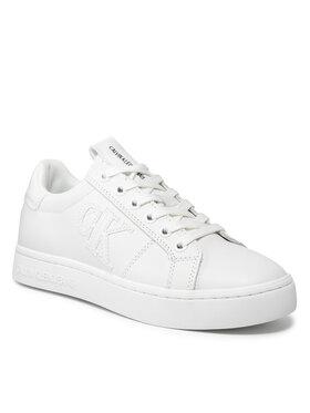 Calvin Klein Jeans Calvin Klein Jeans Sneakersy Cupsole Laceup Sneaker Logo Wn YW0YW00440 Biela