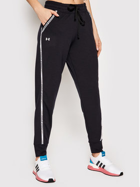 Under Armour Under Armour Долнище анцуг Rival Terry Taped 1361095 Черен Loose Fit