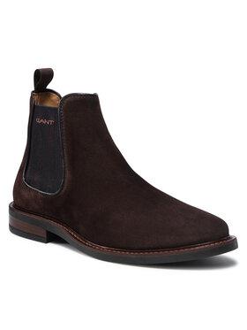 Gant Gant Kotníková obuv s elastickým prvkem St Akron 23653211 Hnědá