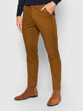 Selected Homme Selected Homme Chinosy Miles 16074054 Brązowy Slim Fit