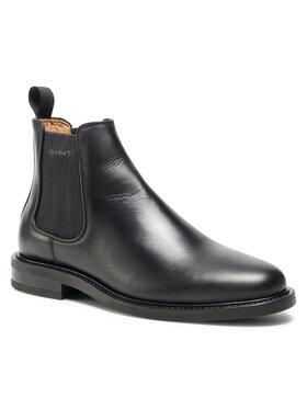 Gant Gant Členková obuv s elastickým prvkom St Akron 26151043 Čierna