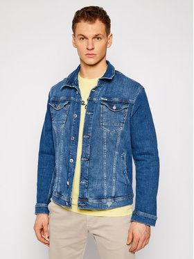 Guess Guess Jeansová bunda William M1RN14 D4B71 Modrá Regular Fit