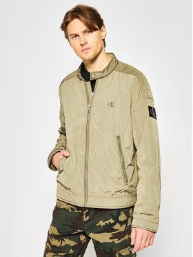 Calvin Klein Jeans Calvin Klein Jeans Átmeneti kabát J30J314850 Zöld Regular Fit