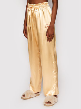 PLNY LALA PLNY LALA Pidžama hlače Susan PL-SP-A2-00001 Zlatna