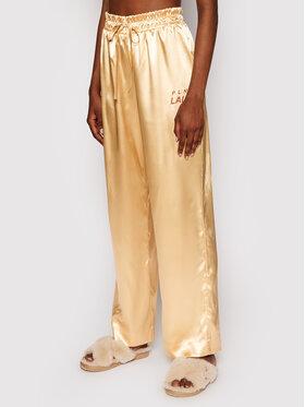 PLNY LALA PLNY LALA Pyžamové nohavice Susan PL-SP-A2-00001 Zlatá