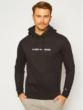 Tommy Jeans Tommy Jeans Mikina Straight Logo DM0DM08474 Čierna Regular Fit