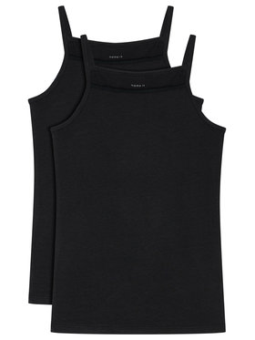 NAME IT NAME IT Комплект 2 блузи без ръкави 13163589 Черен Slim Fit