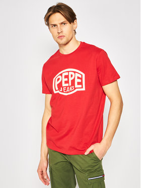 Pepe Jeans Pepe Jeans T-shirt Earnest PM507139 Rosso Regular Fit