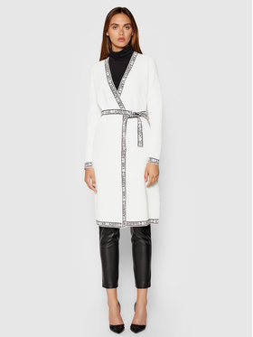 KARL LAGERFELD KARL LAGERFELD Kötött ruha Knitted Wrap 211W1365 Fehér Regular Fit