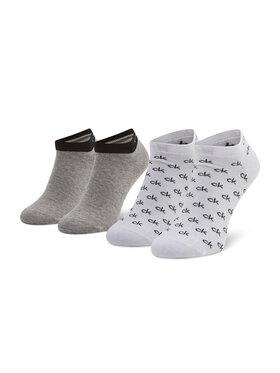 Calvin Klein Calvin Klein Lot de 2 paires de chaussettes basses unisexe 701218715 Gris