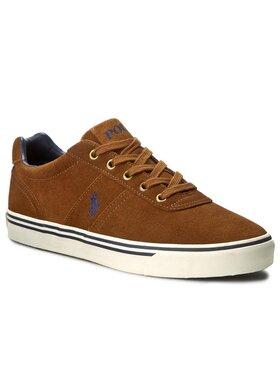 Polo Ralph Lauren Polo Ralph Lauren Sneakers aus Stoff Hanford A85 XZ4YQ XY4YQ XW4R6 816641859003 Braun