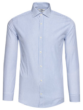 Jack&Jones Jack&Jones Marškiniai Blaroyal 12185316 Mėlyna Slim Fit