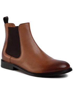 Gino Rossi Gino Rossi Kotníková obuv s elastickým prvkem MSU350-CHUCK-14 Hnědá