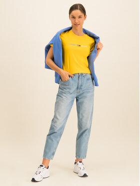 Tommy Jeans Tommy Jeans Tricou Neon Linear DW0DW07528 Galben Regular Fit