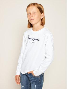 Pepe Jeans Pepe Jeans Bluzka New Herman Jr PB501010 Biały Regular Fit