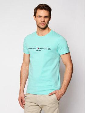 Tommy Hilfiger Tommy Hilfiger Tričko Logo MW0MW11797 Zelená Regular Fit