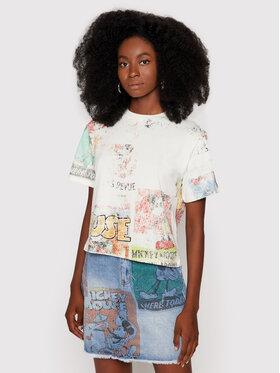 Desigual Desigual T-Shirt DISNEY Vintage Mickey 21WWTKB4 Bílá Regular Fit