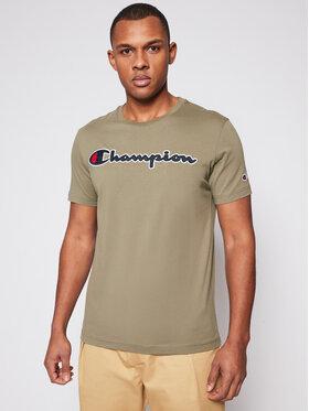 Champion Champion T-shirt Logo 214194 Verde Comfort Fit