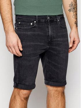 Calvin Klein Jeans Calvin Klein Jeans Дънкови шорти J30J318034 Черен Slim Fit