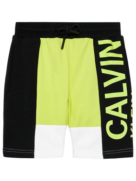 Calvin Klein Jeans Calvin Klein Jeans Sportiniai šortai Coolour Block Logo IB0IB00787 Žalia Regular Fit